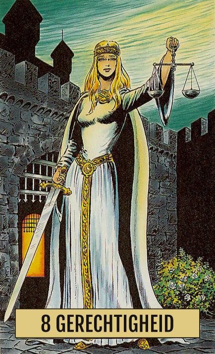 Arcus Arcanum Tarot 8 Gerechtigheid