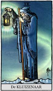 kluizenaar of heremiet uit de tarot