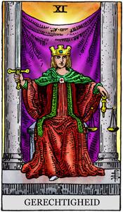 tarotkaart gerechtigheid