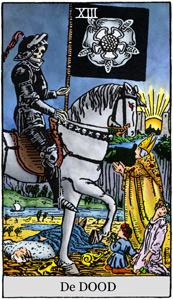 Tarotkaarten rider waite de dood