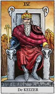 Het wortelchakra van de Tarot Keizer is in balans