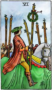 Tarotkaarten Rider Waite Staven 6