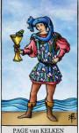 Tarotkaarten Kelken Page
