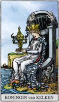 Tarotkaarten Kelken Koningin