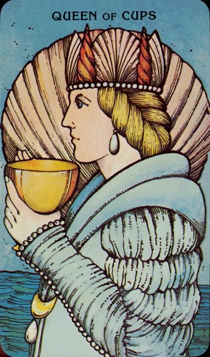 Morgan Greer Tarotkaart Kelken Koningin