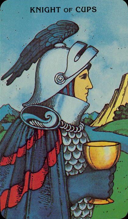 Morgan Greer Tarotkaart Kelken Ridder