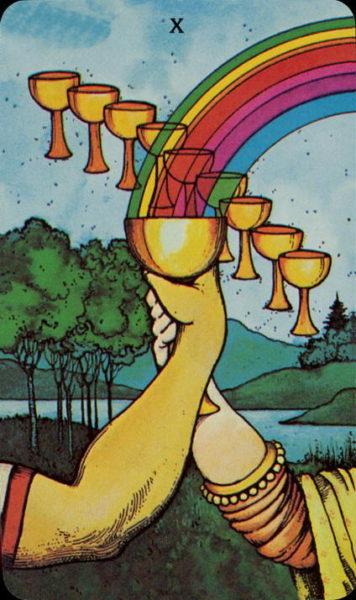 Morgan Greer Tarotkaart Kelken Tien