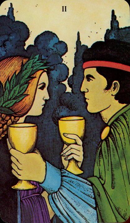 Morgan Greer Tarotkaart Kelken Twee