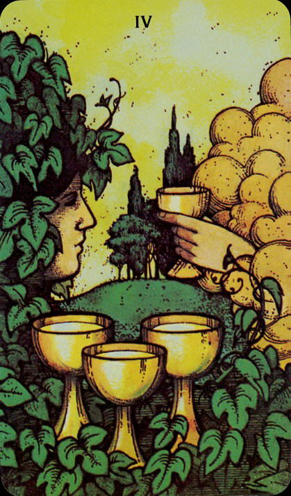 Morgan Greer Tarotkaart Kelken Vier