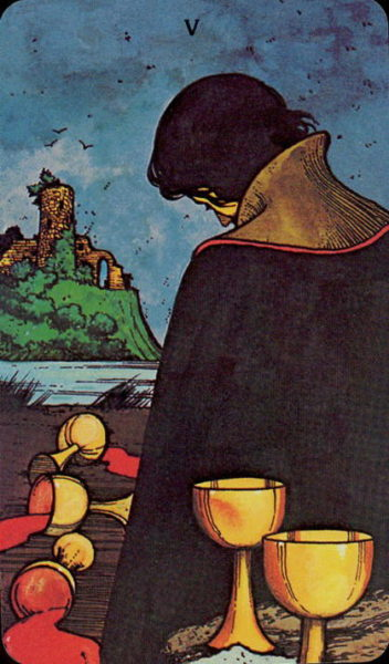 Morgan Greer Tarotkaart Kelken Vijf