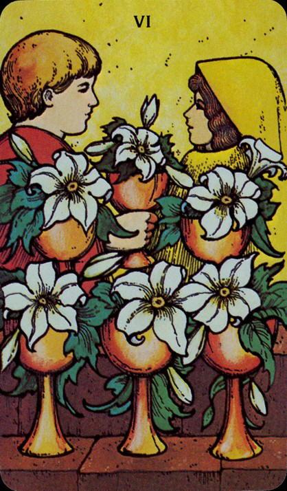 Morgan Greer Tarotkaart Kelken Zes
