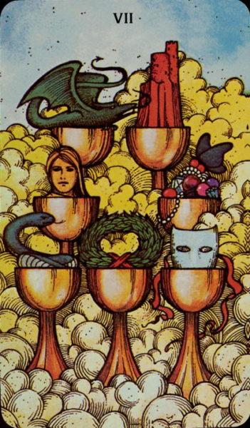 Morgan Greer Tarotkaart Kelken Zeven