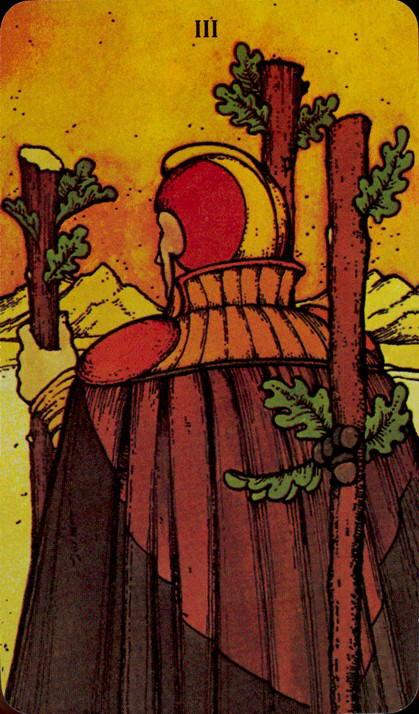 Morgan Greer Tarotkaart Staven Drie