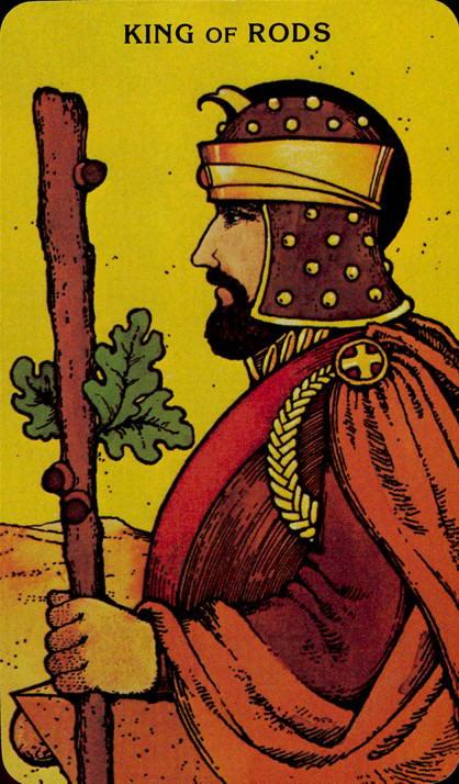 Morgan Greer Tarotkaart Staven Koning