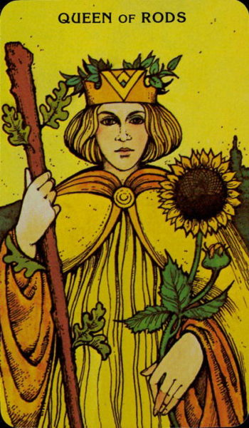 Morgan Greer Tarotkaart Staven Koningin