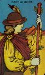 Tarotkaart Staven Schildknaap - Boodschapper