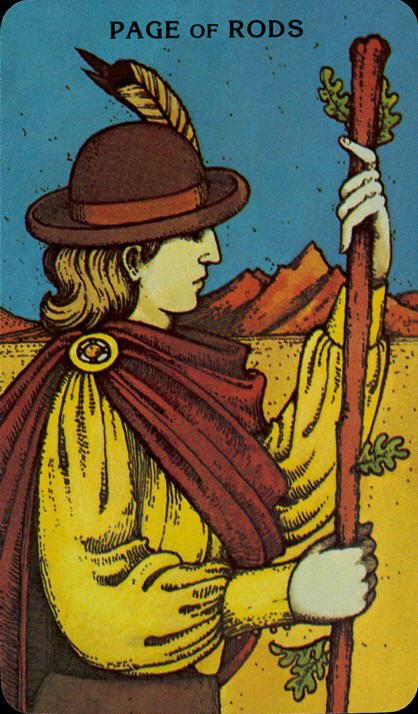 Morgan Greer Tarotkaart Staven Page