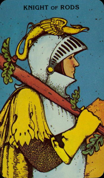 Morgan Greer Tarotkaart Staven Ridder