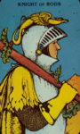 Tarotkaart Staven Ridder - Energiek