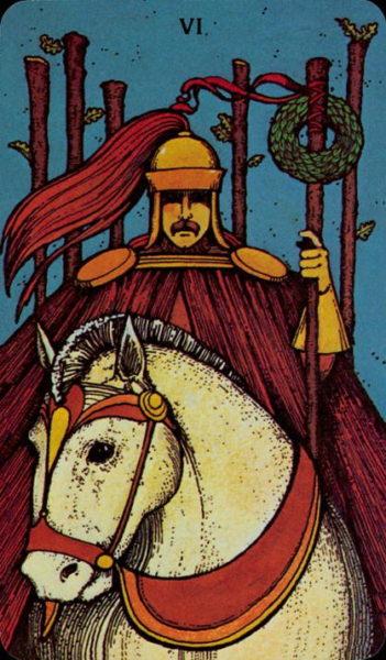 Morgan Greer Tarotkaart Staven Zes
