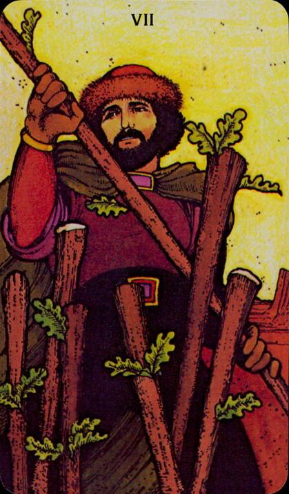 Morgan Greer Tarotkaart Staven Zeven