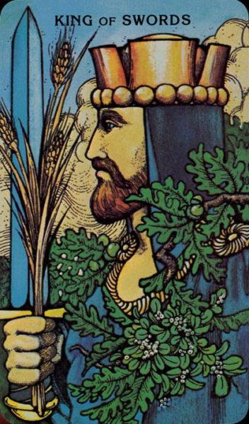 Morgan Greer Tarotkaart Zwaarden Koning