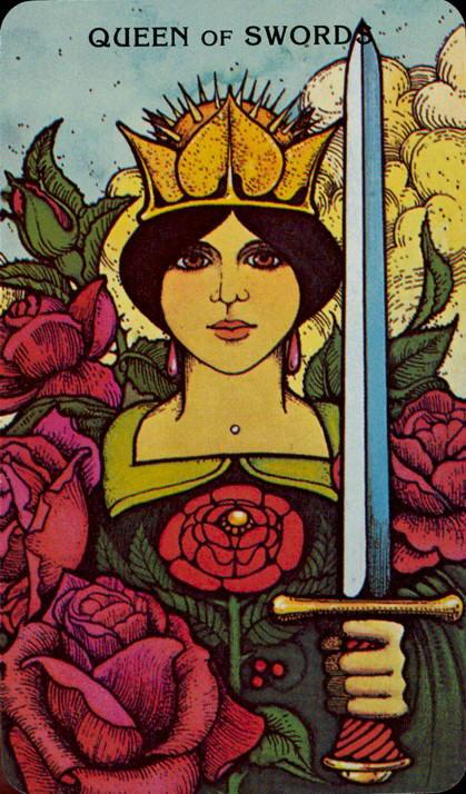 Morgan Greer Tarotkaart Zwaarden Koningin