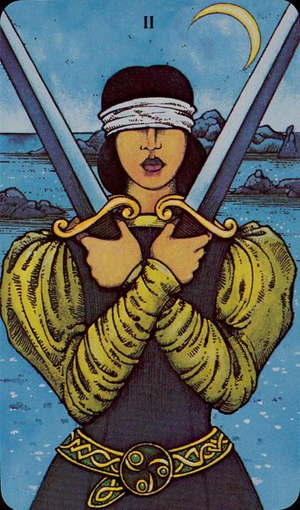 Morgan Greer Tarotkaart Zwaarden twee