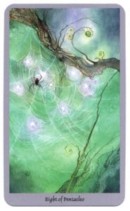 Shadowscapes Tarot Pentakels Acht