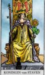 Tarotkaarten Staven Koningin