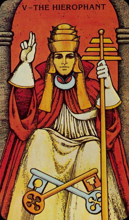 Morgan Greer Tarotkaart De Hogepriester