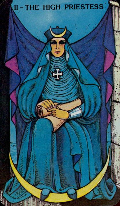 Morgan Greer Tarotkaart De Hogepriesteres