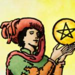 Tarotkaart Pentakels Schildknaap (Page)