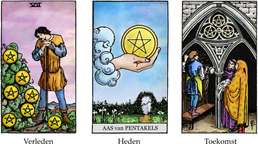 3 tarotkaarten legging