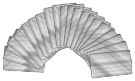waaier van tarotkaarten