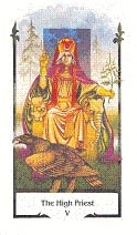 old path tarot high priest tarotkaart hogepriester