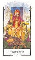 old path tarot high priest tarotkaart hogepriester