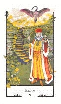 old path tarot tarotkaart justice gerechtigheid in rw