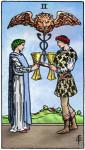 Kelken 2 tarotkaart