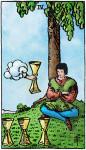 tarotkaarten kelken 4, meditatie