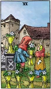kelken 6 tarotkaart