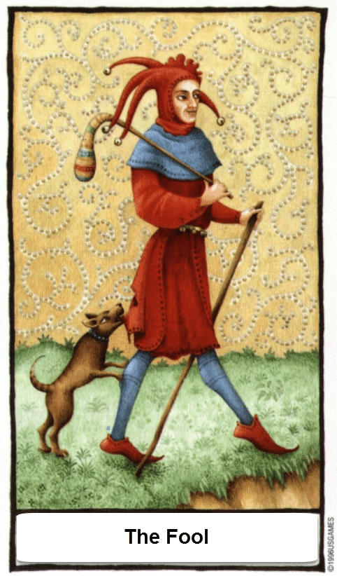 Old English Tarotkaart De Dwaas