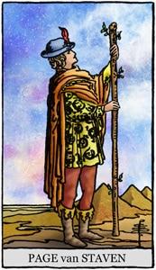 Tarotkaart staven schildknaap page