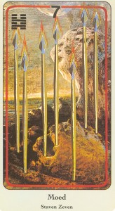 haindl tarotkaart staven 7