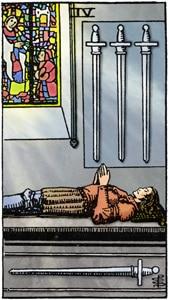 zwaarden 4 tarotkaart