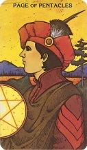 Morgan Greer tarotkaart pentakels page