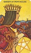 Morgan Greer Tarot Pentakels koningin