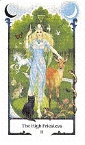 high priestess old path tarot