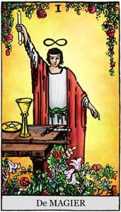 tarotkaart rider waite de magiër