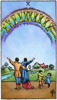 tarotkaart kelken 10